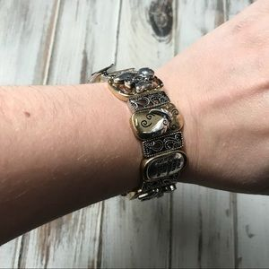 Believe in silver and gold angel stretch bracelet